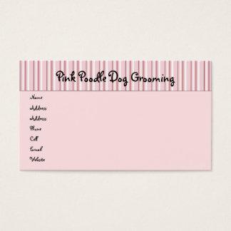 パレードのプロフィールカードのピンクのプードル 名刺