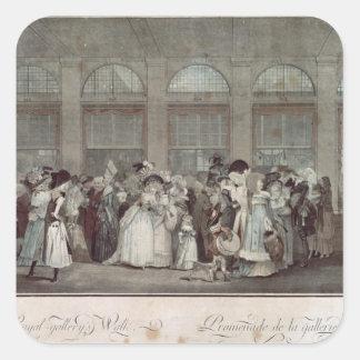 パレ・ロワイヤルのギャラリーの歩行1787年 スクエアシール