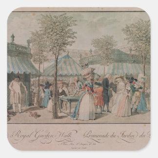 パレ・ロワイヤルの庭の歩行1787年 スクエアシール
