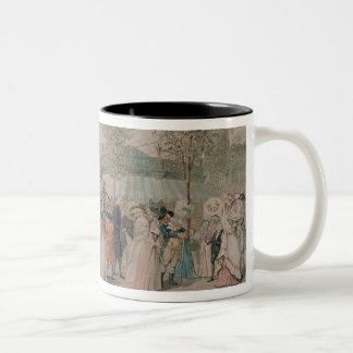 パレ・ロワイヤルの庭の歩行1787年 ツートーンマグカップ