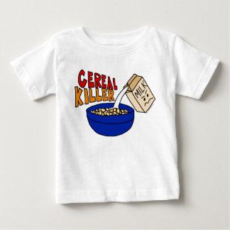 パロディの穀物のキラー朝食用食品のユーモア ベビーTシャツ