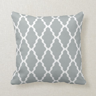 パロマの灰色のモロッコの格子垣の枕 クッション