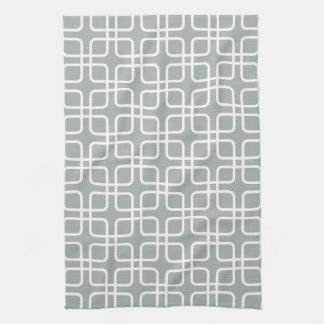 パロマの灰色の幾何学的な台所タオル キッチンタオル