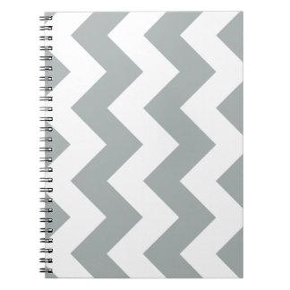 パロマ灰色のシェブロンのジグザグ形のメモ帳 ノートブック