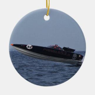 パワーボートの競争の危険 セラミックオーナメント