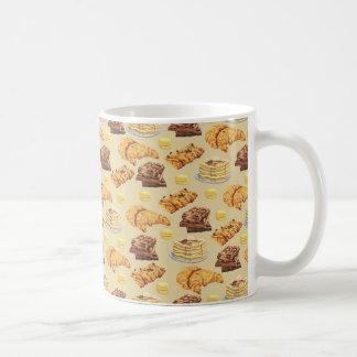 パンおよびパンケーキパターン コーヒーマグカップ