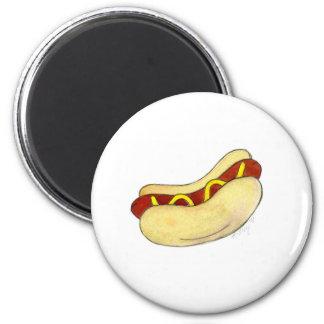 パンのファースト・フードの磁石のマスタードを持つホットドッグ マグネット