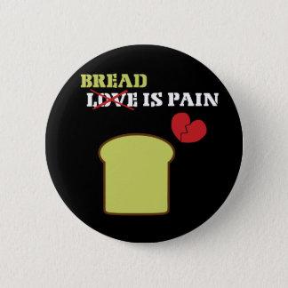 パンは苦痛です 5.7CM 丸型バッジ