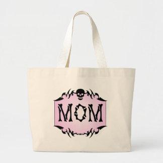 パンクのガーリーなスカルのお母さんのトートバック ラージトートバッグ