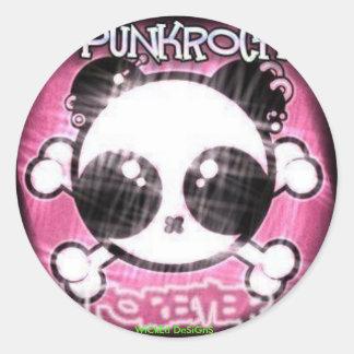 パンクのパンダ ラウンドシール