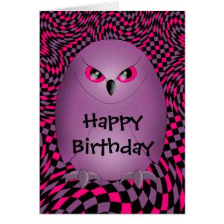パンクのフクロウの誕生日 カード