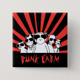 パンクの農場ボタン 5.1CM 正方形バッジ