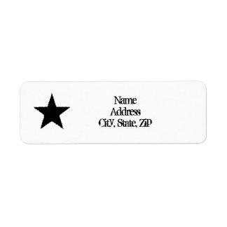 パンクの黒い星 ラベル