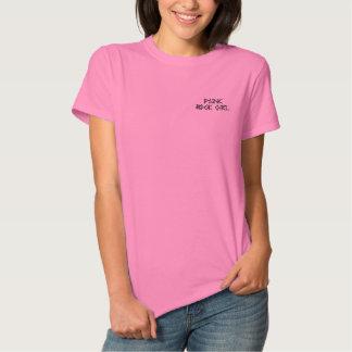パンクロックの女の子 刺繍入りTシャツ