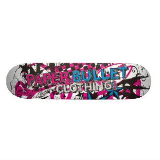 パンクロックの白板 21.6CM スケートボードデッキ