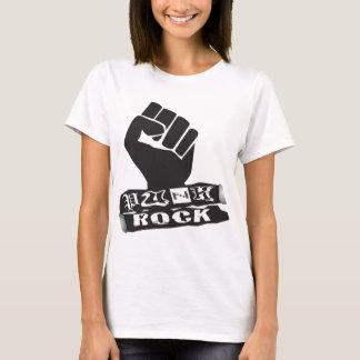 パンクロックのb&w tシャツ