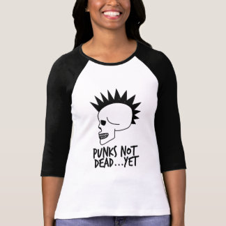 パンク完全に…けれどもスカルの白 Tシャツ