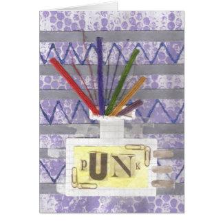 パンク部屋の拡散器の挨拶状 カード