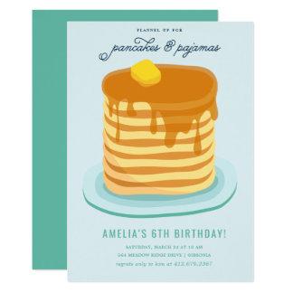 パンケーキおよびパジャマの誕生会 カード