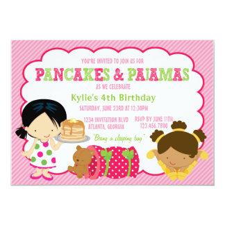パンケーキおよびパジャマのSleepoverのパーティー カード