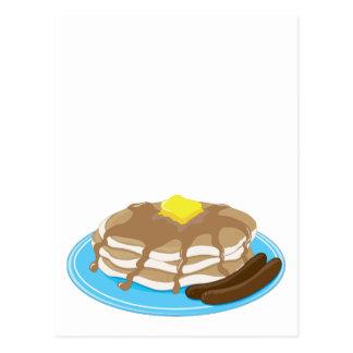 パンケーキソーセージ ポストカード