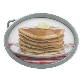 パンケーキ折り返しはメープルシロップのバター価値を持ち上げます 卵形バックル