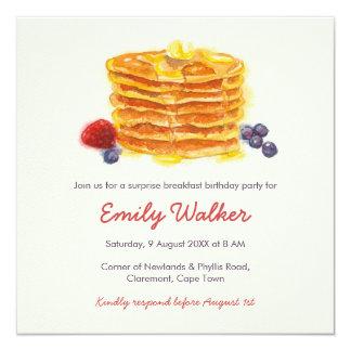 パンケーキ朝食の誕生会 カード