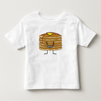 パンケーキ積み重ねのバターシロップの柔らかい朝食 トドラーTシャツ