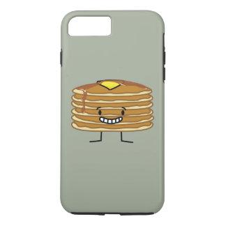 パンケーキ積み重ねのバターシロップの柔らかい朝食 iPhone 8 PLUS/7 PLUSケース