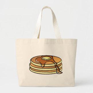 パンケーキ-キャンバスの戦闘状況表示板 ラージトートバッグ