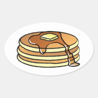 パンケーキ-ステッカー 楕円形シール