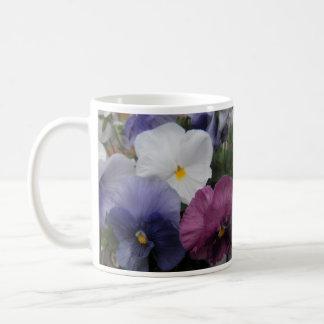 パンジーのトリオ-幸せな母の日 コーヒーマグカップ