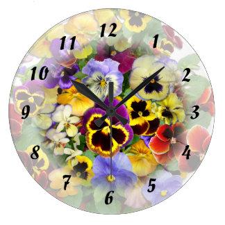 パンジーの時間~の時計 ラージ壁時計