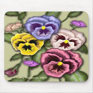 パンジーの花のマウスパッド マウスパッド