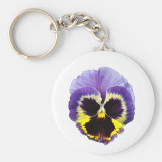 パンジーの花Keychain キーホルダー