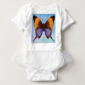 パンジーのDaggerwingの蝶 ベビーボディスーツ