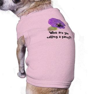 """""""パンジーを呼んでいるだれであるか""""。 カスタムな犬のワイシャツ ペット服"""