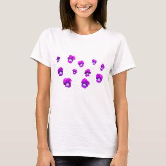 パンジー多くの花 Tシャツ