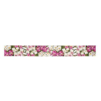 パンジー蘭の花柄の花の熱帯サテンリボン サテンリボン