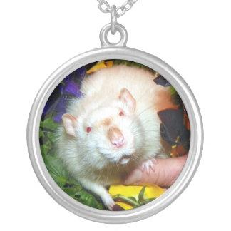 パンジー(ペットラット)のネックレスのNehemiah シルバープレートネックレス
