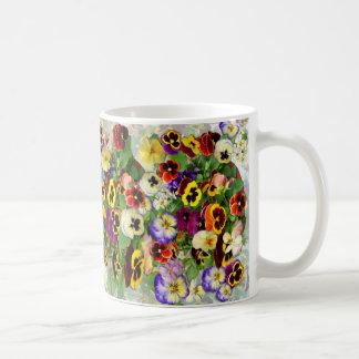 パンジーCaccade コーヒーマグカップ
