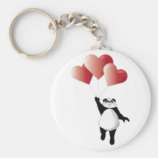 パンダおよび気球Keychain キーホルダー