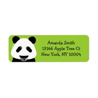 パンダくまのモダンの緑 ラベル