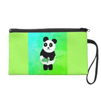 パンダくまのリストレットのバッグか財布 リストレット