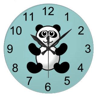パンダくまの動物の柱時計 ラージ壁時計