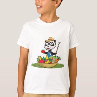 パンダくまの庭師 Tシャツ
