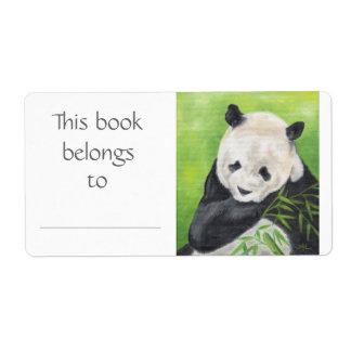 パンダくまの本のラベル ラベル