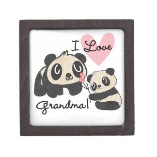 パンダくまI愛祖母 ギフトボックス