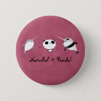 パンダとNarwhal! 5.7cm 丸型バッジ