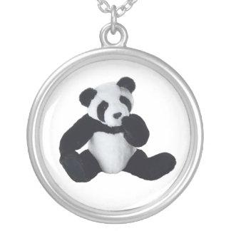 パンダのおもちゃ シルバープレートネックレス